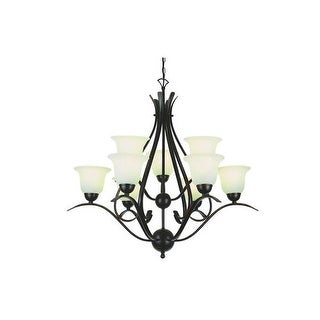 Trans Globe Lighting 9289 9 Light Up Lighting Two Tier Chandelier from the Contemporary Collection