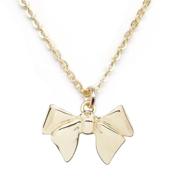 """Julieta Jewelry Bow Gold Charm 16"""" Necklace"""