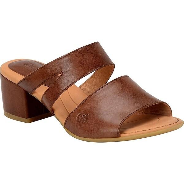 B.O.C Womens MAKATI Leather Open Toe Casual Mule Sandals