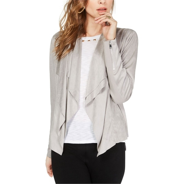 I-N-C Womens Faux-Suede Jacket. Opens flyout.