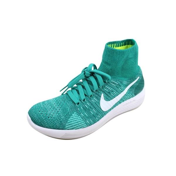 b861ee814d7b Shop Nike Women s Lunarepic Flyknit Clear Jade White-Hyper Turquoise ...