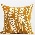 """G Home Collection Luxury Yellow Warp Chevron Embroidered Pillow 20""""X20"""" - Thumbnail 0"""