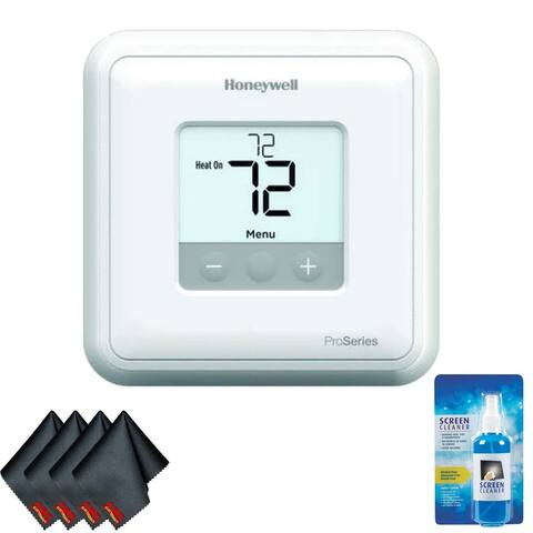 Honeywell TH4110U2005/U T4 Pro Program Mable Thermostat (White) Bundle