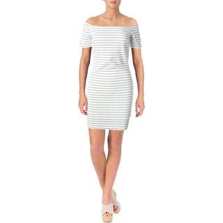Lucy Paris Womens Striped Mini Cocktail Dress