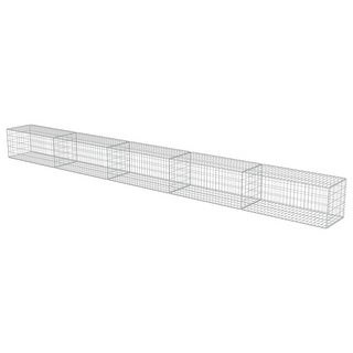 """Link to vidaXL Gabion Wall with Covers Galvanized Steel 236""""x19.7""""x19.7"""" Similar Items in Yard Care"""