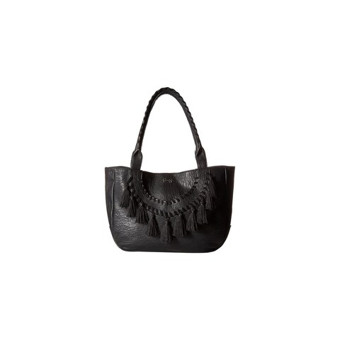 Jessica Simpson Womens Laurel Tote Handbag Faux Leather Shopper - Large
