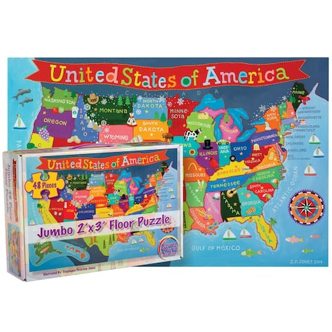 United States Floor Puzzle for Kids, 48 Pieces