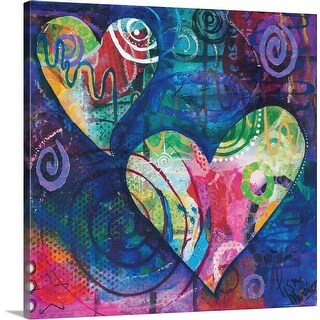 """Hearts"" Canvas Wall Art"