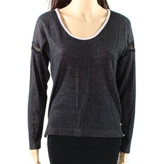 Betsey Johnson NEW Black Women's Size Large L Lace-Inset Seamed Sleepshirt
