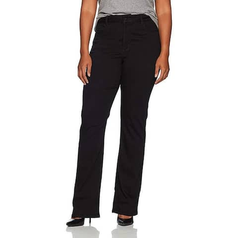 NYDJ Women's Plus Size Barbara Bootcut Jeans, Black, SZ 16W