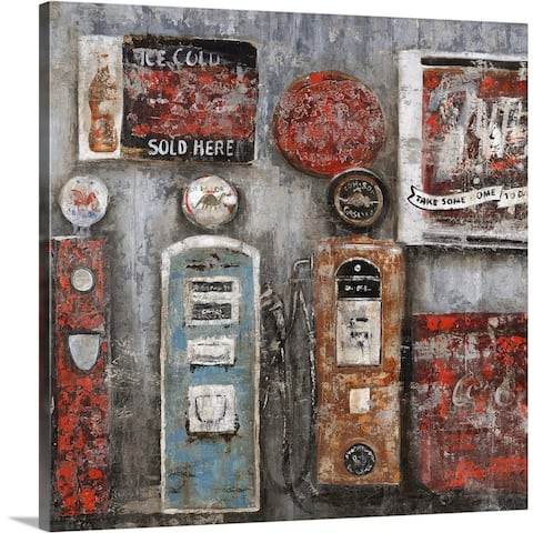 """Filler Up II"" Canvas Wall Art"