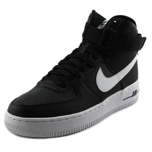 Nike Air Force 1 High Youth Round Toe Canvas Black Basketball Shoe