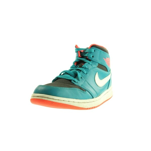 Nike Mens Air Jordan 1 Mid Basketball Shoes Suede High Top - 10.5 medium (d)