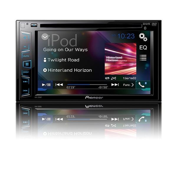 """Pioneer 6.2"""" Ddin DVD Receiver w/BT USB for Ipod"""