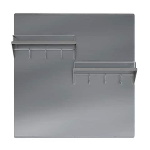 Ancona 30 in. Stainless Steel Backsplash with shelf and rack