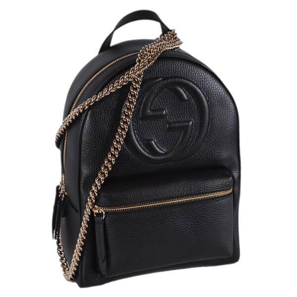 7ec2cdda71d Shop Gucci Women's 536192 Black Leather SOHO Chain Strap Small ...