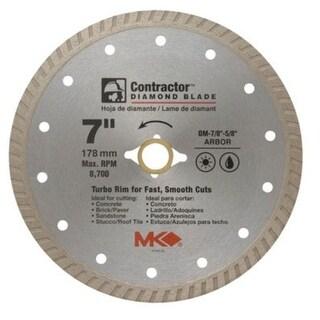 """MK Diamond 167022 Mk-99 Arbor Turbo Rim Diamond Blade, 7"""""""