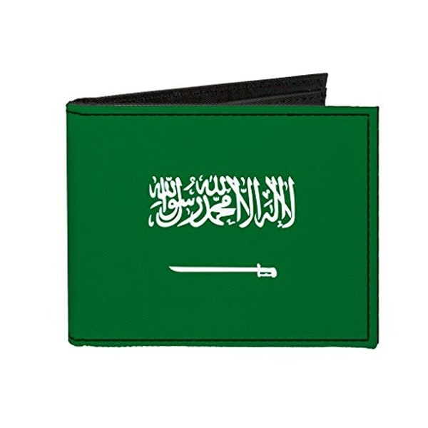 Buckle-Down Canvas Bi-fold Wallet - Saudi Arabia Flag Accessory