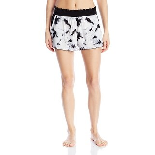 Kensie NEW White Womens Size Small S Tie-Dye Crinkle Lounge Shorts