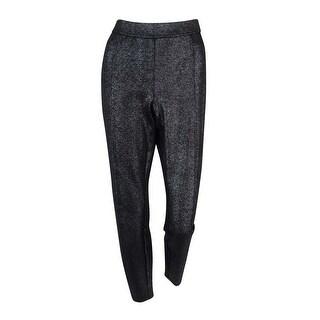 Alfani Women's Skinny Leg Metallic Pants