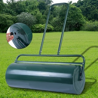 Link to Gymax Tow Lawn Roller Water Filled Push Roller 36-Inch x 12-Inch Green Similar Items in Gardening