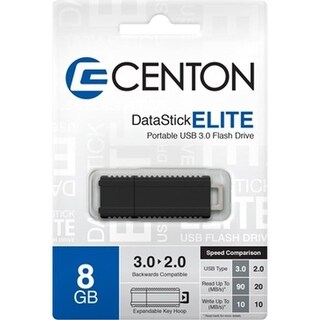 Centon Electronics 59353 DataStick Elite USB 3.0 8GB, Black