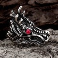 Vienna Jewelry The Dragon's Head Stainless Steel Ring - Thumbnail 0