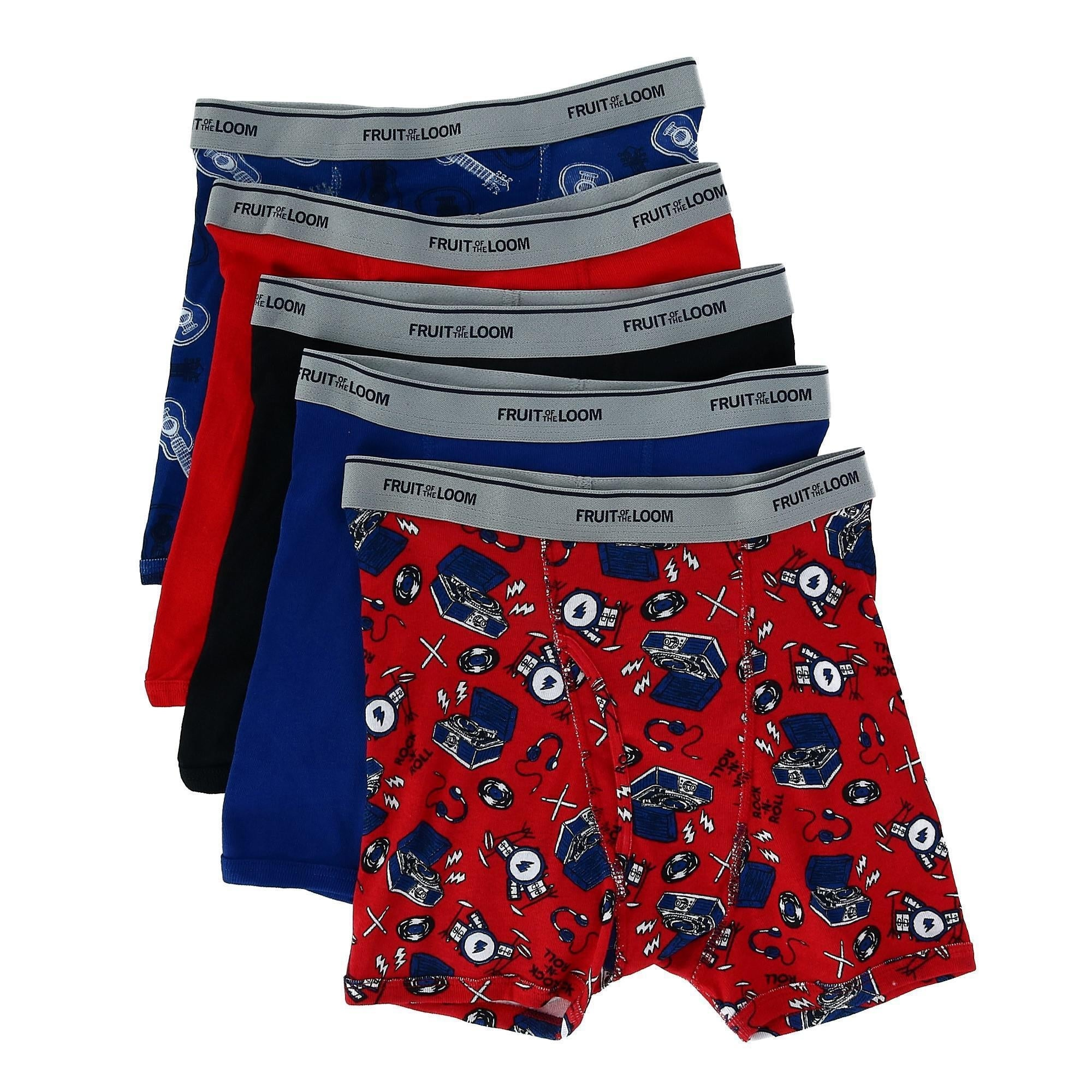 Fruit of the Loom Toddler Prints Boxer Briefs 6 Pack