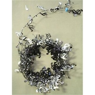 Party Deco 04517 12 ft. Black Music Notes Wire Garland - Pack of 12