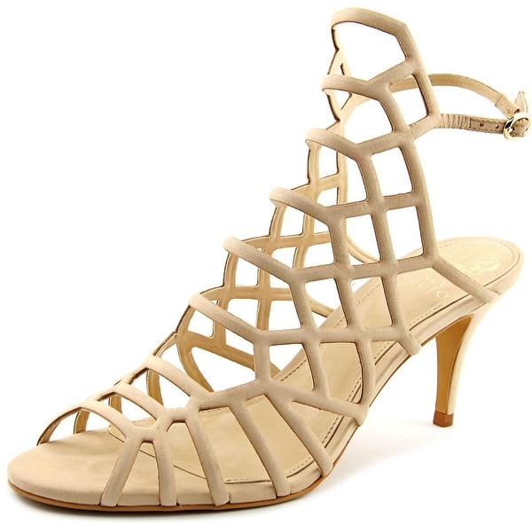 Vince Camuto Paxton Women Open Toe Leather Nude Sandals