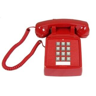 Cortelco 250047-VBA-20M 47 Red Desk Phone W/ 9Ft Handset Cord