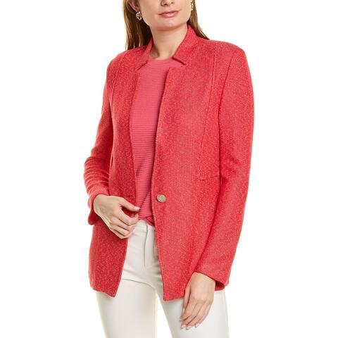 St. John Refined Knit Wool-Blend Jacket