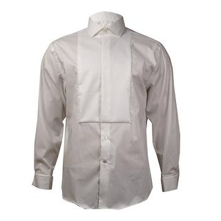 Ryan Seacrest Distinction Men's Non-Iron Slim-Fit Dress Shirt (White, 17 32-33) - 17 32-33