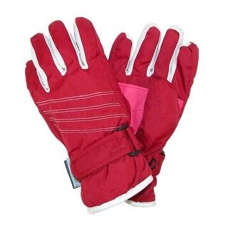 CTM® Kids' Waterproof Two Tone Ski Gloves