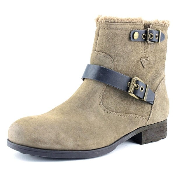 Marc Fisher Nattaly Women Round Toe Suede Gray Ankle Boot