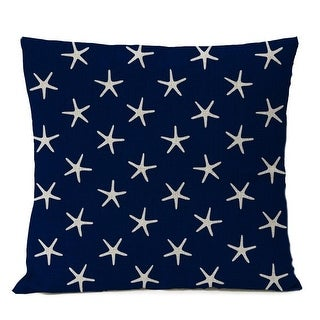 Link to Elegant Coastal White Starfish Navy Blue Decor Pillow Cover Similar Items in Decorative Accessories