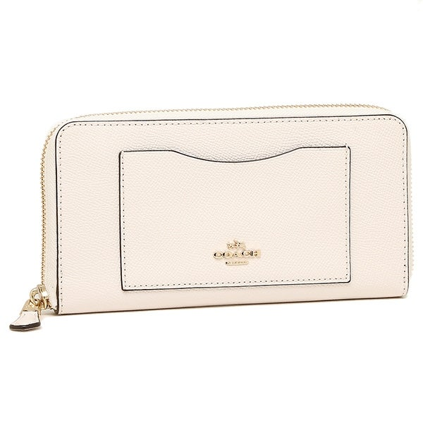 f82956790 Shop Coach Crossgrain Leather Accordion Zip Wallet F54007, Chalk - Free  Shipping Today - Overstock - 18910195