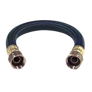 """BrassCraft BWBO-12 Polymer Braid Water Heater Connector, 3/4"""" x 12"""""""