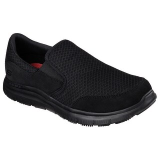 Skechers 77048 BBK Men's FLEX ADVANTAGE-MCALLEN SR Work WIDE