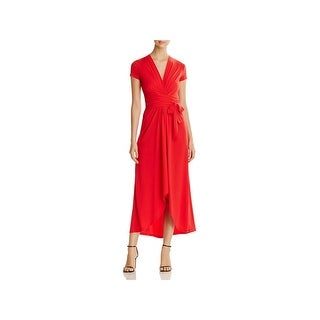 MICHAEL Michael Kors Womens Maxi Dress Cap Sleeves Mid-Calf