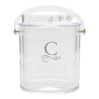 Carved Solutions Acrylic Insulated Ice Bucket With Tongs-Pi-Flourish-G
