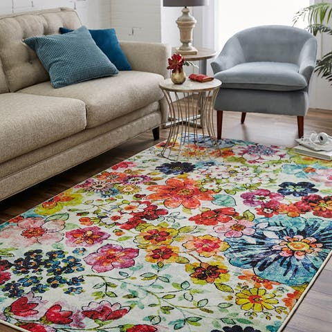 Mohawk Home Floral Blossoms Area Rug