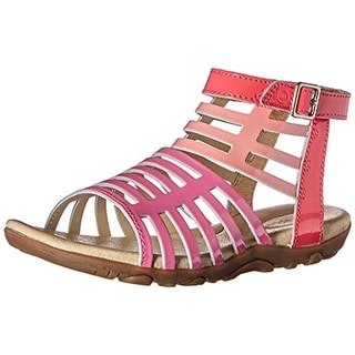 Stride Rite Girls Katerina Patent Leather Gladiator Sandals - 10 wide (c,d,w)