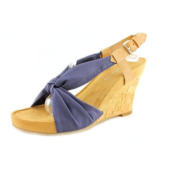 Aerosoles Plush Pillow Women Open Toe Canvas Wedge Sandal