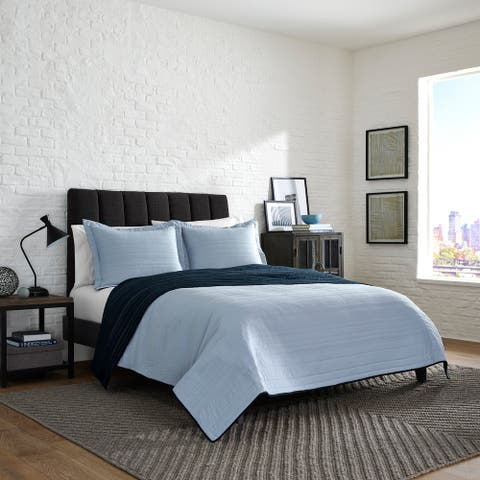 Kenneth Cole Reaction Solid-Cozy Quilt-Sham Set
