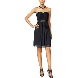 Adrianna Papell Womens Cocktail Dress Embellished Strapless