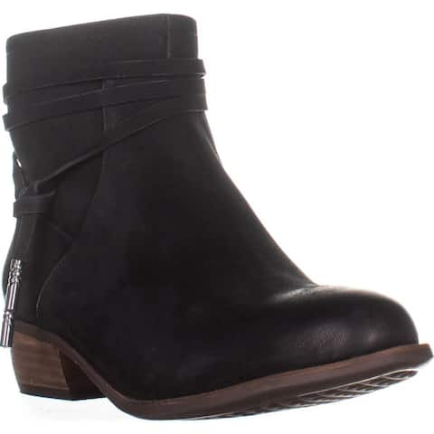 Aerosoles West River Comfort Ankle Boots, Black Leather