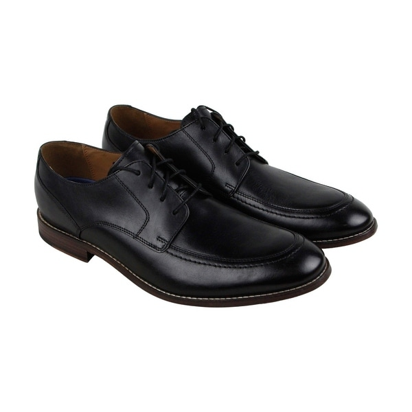 Bostonian Ensboro Pace Mens Black Leather Casual Dress Lace Up Oxfords Shoes
