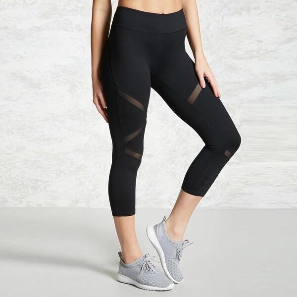 e605e6b165668 Shop Skinny Mesh Patchwork Sports Leggings Women Bohemian Fitness Clothing  Black Gym Trousers Sportswear Yoga Pants Running Tights - Free Shipping On  Orders ...
