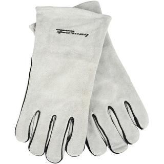 Forney 53429 Split Leather Men's Welding Gloves, Grey, X-Large